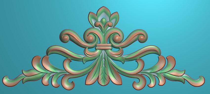 欧式三角花图JDP格式横图浮雕外墙装饰花洋花系列柜门花SH0211插图