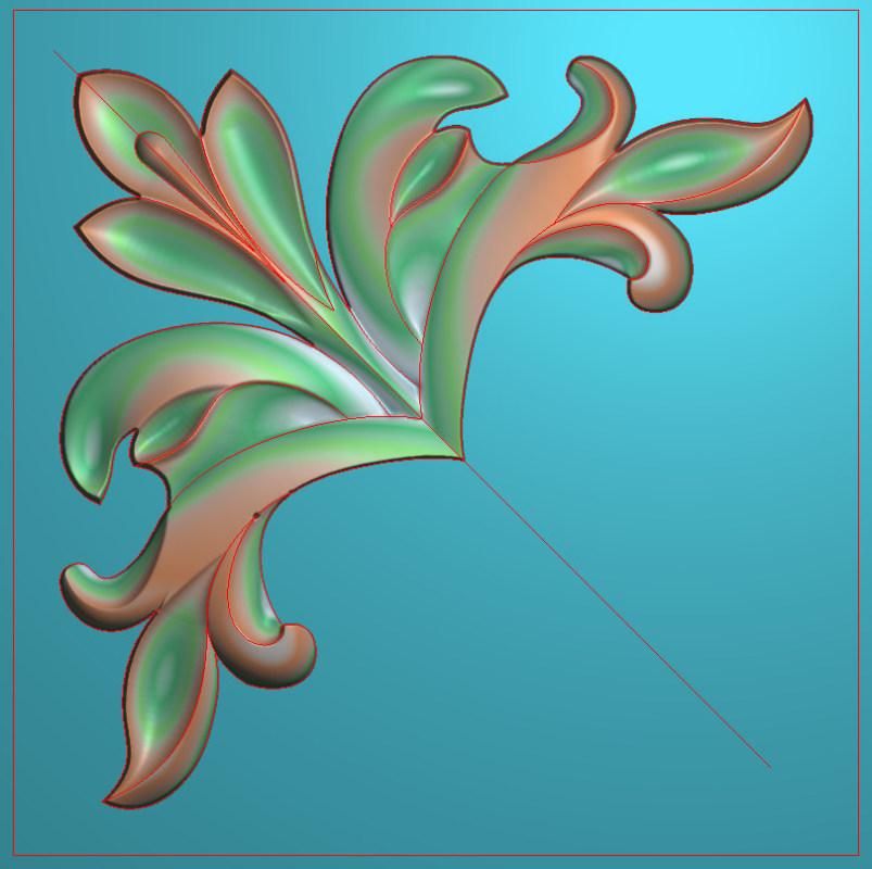 欧式正方图JDP格式植物角花系列JH0170插图