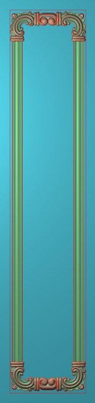 欧式竖图JDP格式雕刻雕花护墙板系列HQ00207插图