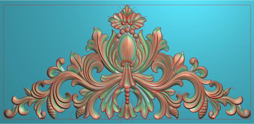 欧式三角花图JDP格式横图浮雕外墙装饰花洋花系列柜门花SH048插图