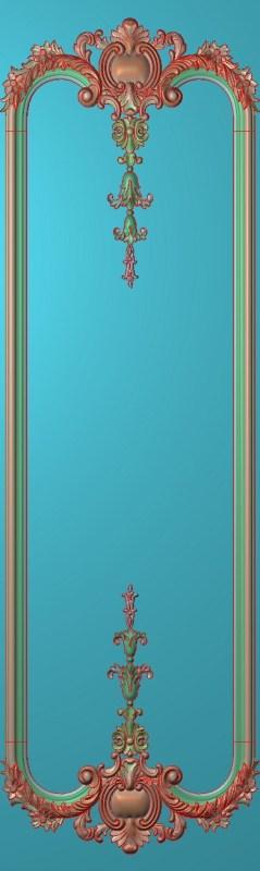 欧式竖图JDP格式雕刻雕花护墙板系列HQ00194插图