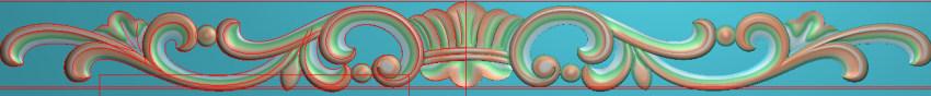 欧式三角花图JDP格式横图浮雕外墙装饰花洋花系列柜门花SH0148插图