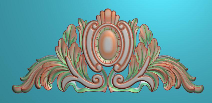 欧式三角花图JDP格式横图浮雕外墙装饰花洋花系列柜门花SH056插图