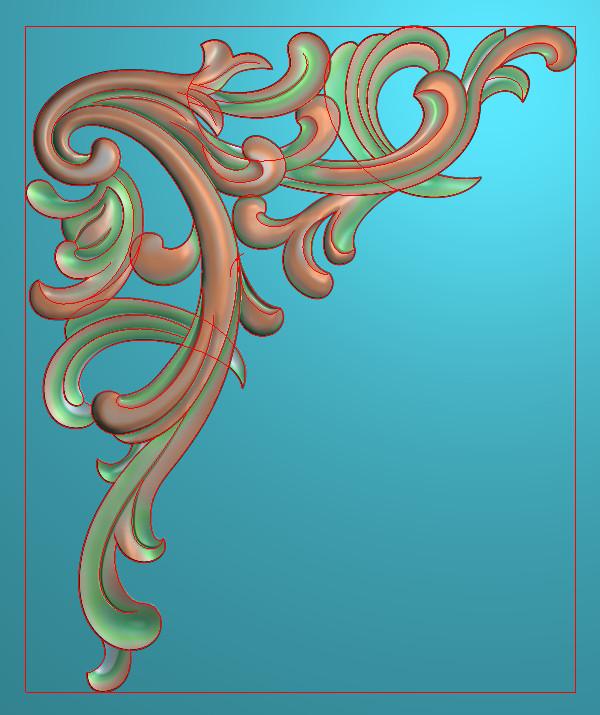 欧式竖图JDP格式植物角花系列JH0289插图