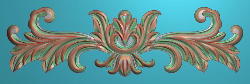 欧式三角花图JDP格式横图浮雕外墙装饰花洋花系列柜门花SH016插图
