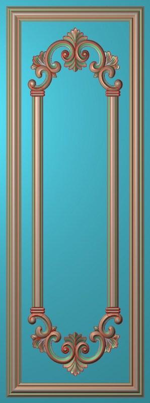欧式竖图JDP格式雕刻雕花护墙板系列HQ007插图