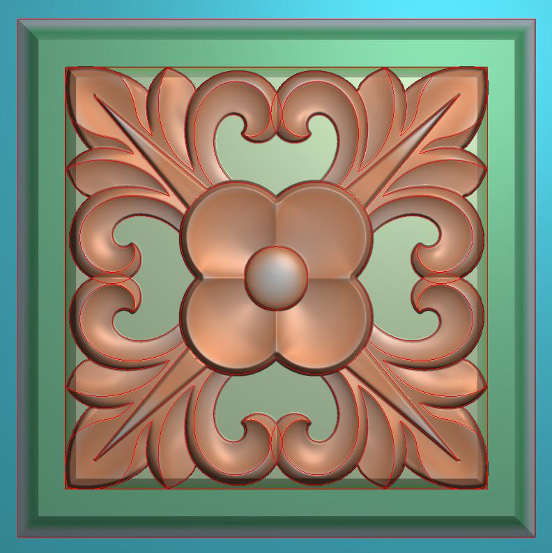 欧式正方图JDP格式贴花方块花洋花系列罗马柱头贴片FH094插图