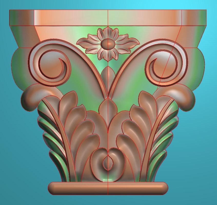 欧式正方图JDP格式罗马柱头系列ZB019插图