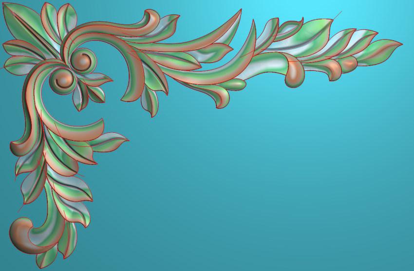 欧式横图JDP格式植物角花系列JH0250插图