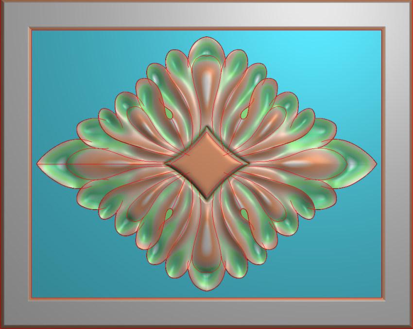 欧式横图JDP格式贴花方块花洋花系列罗马柱头贴片FH020插图