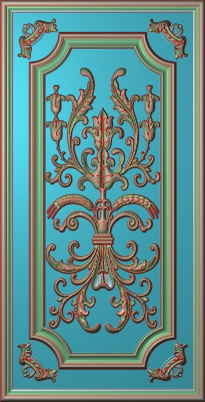 欧式竖图JDP格式雕刻雕花护墙板系列HQ0026插图