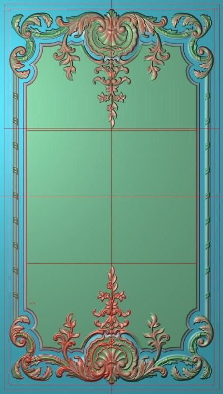 欧式竖图JDP格式雕刻雕花护墙板系列HQ0021插图