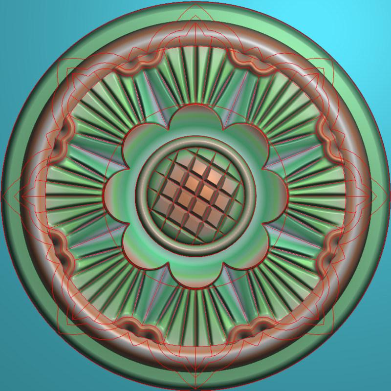 欧式圆花图JDP格式贴花门上花洋花系列罗马柱头贴片YH0029插图