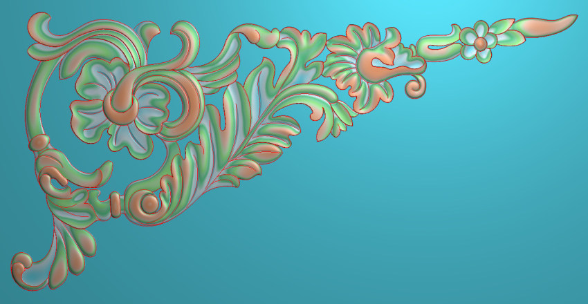 欧式横图JDP格式植物角花系列JH0174插图