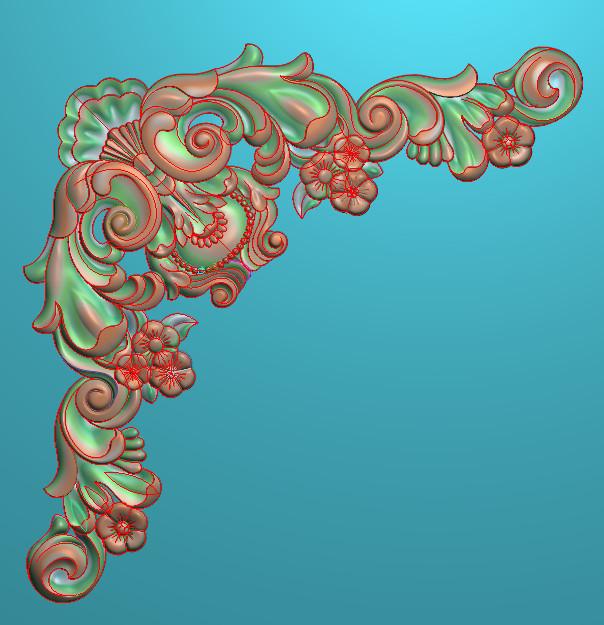 欧式正方图JDP格式植物角花系列JH0246插图