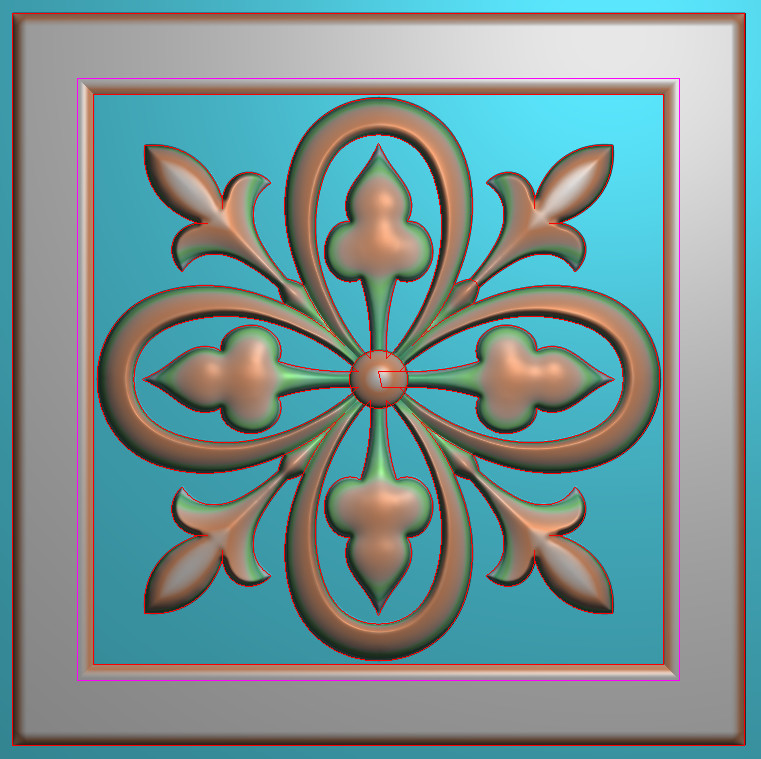 欧式正方图JDP格式贴花方块花洋花系列罗马柱头贴片FH060插图