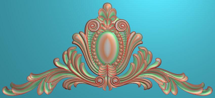 欧式三角花图JDP格式横图浮雕外墙装饰花洋花系列柜门花SH064插图