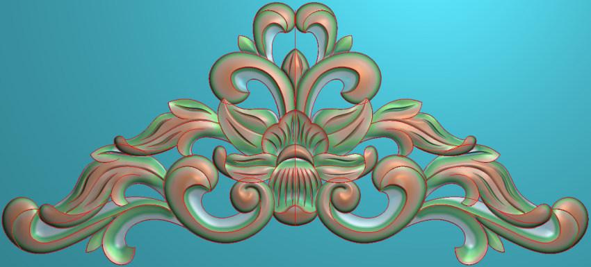 欧式三角花图JDP格式横图浮雕外墙装饰花洋花系列柜门花SH002插图