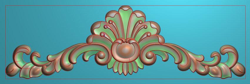 欧式三角花图JDP格式横图浮雕外墙装饰花洋花系列柜门花SH0257插图