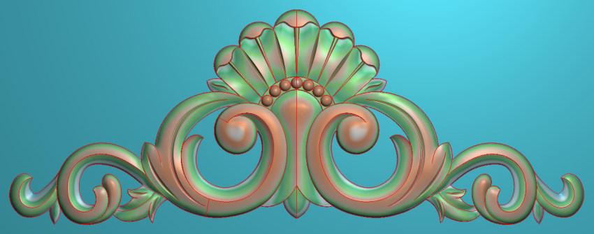 欧式三角花图JDP格式横图浮雕外墙装饰花洋花系列柜门花SH0112插图