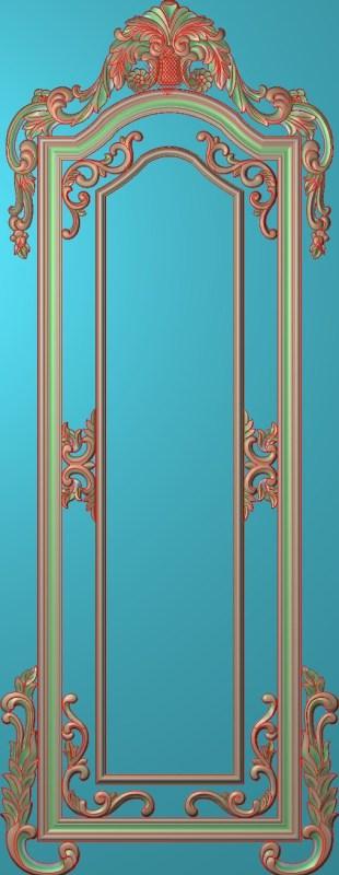 欧式竖图JDP格式雕刻雕花护墙板系列HQ0071插图
