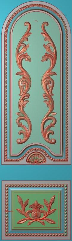 欧式竖图JDP格式雕刻雕花护墙板系列HQ0097插图
