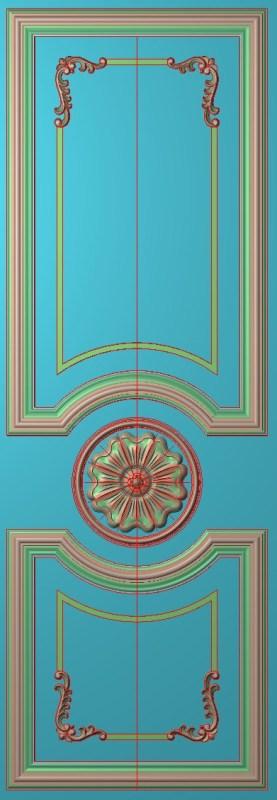 欧式竖图JDP格式雕刻雕花护墙板系列HQ00101插图