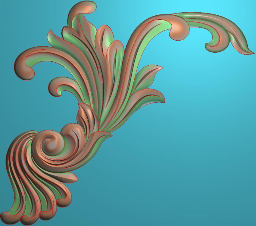欧式正方图JDP格式植物角花系列JH093插图