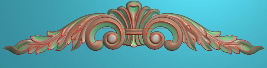 欧式三角花图JDP格式横图浮雕外墙装饰花洋花系列柜门花SH0242插图