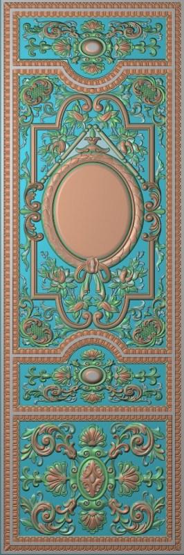 欧式竖图JDP格式雕刻雕花护墙板系列HQ0065插图