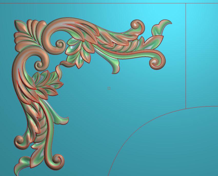欧式横图JDP格式植物角花系列JH0230插图