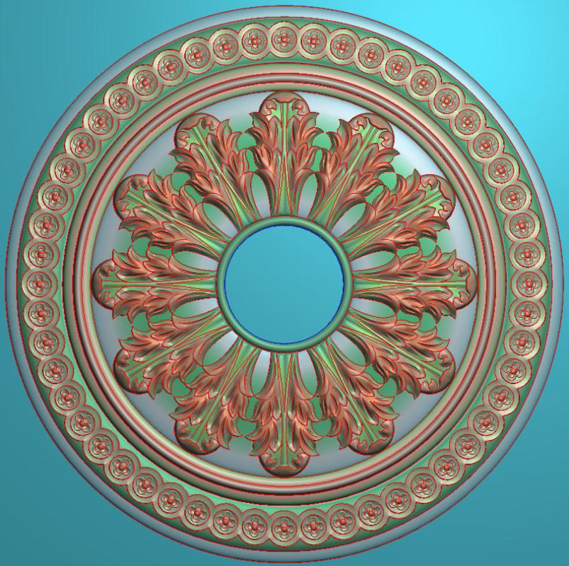 欧式圆花图JDP格式贴花门上花洋花系列罗马柱头贴片YH0024插图