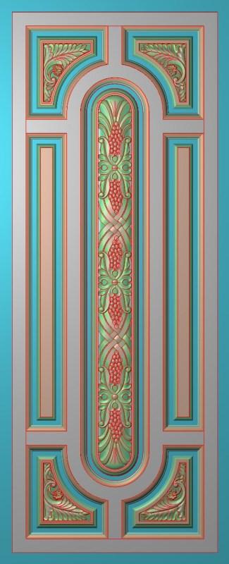 欧式竖图JDP格式雕刻雕花护墙板系列HQ003插图