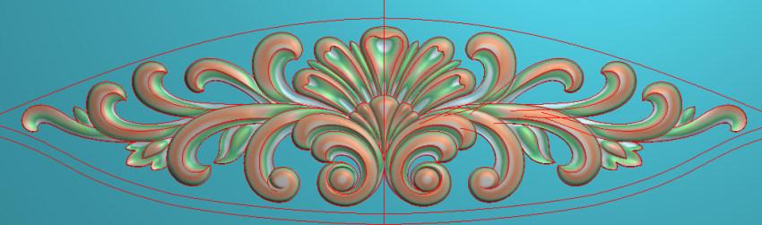 欧式三角花图JDP格式横图浮雕外墙装饰花洋花系列柜门花SH0208插图
