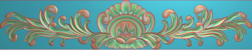 欧式三角花图JDP格式横图浮雕外墙装饰花洋花系列柜门花SH0161插图
