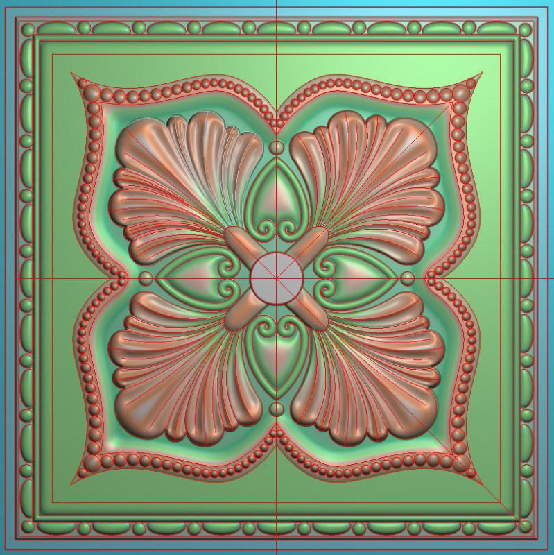 欧式正方图JDP格式贴花方块花洋花系列罗马柱头贴片FH013插图