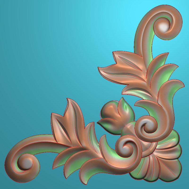 欧式正方图JDP格式蝙蝠植物角花系列JH012插图