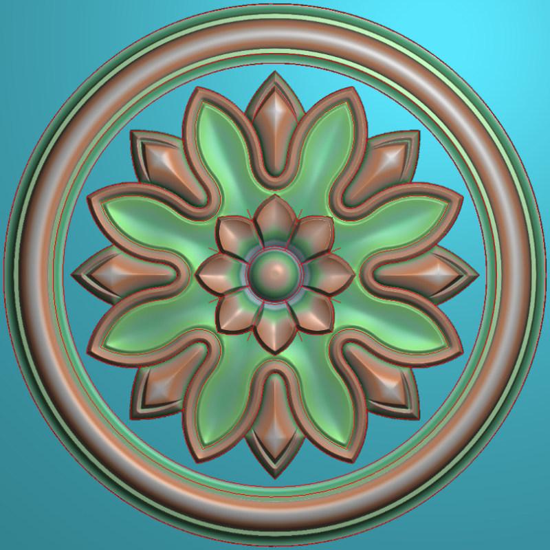 欧式圆花图JDP格式贴花门上花洋花系列罗马柱头贴片YH0059插图