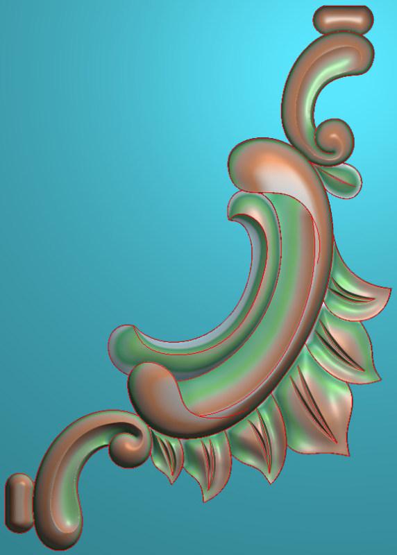 欧式竖图JDP格式植物角花系列JH063插图