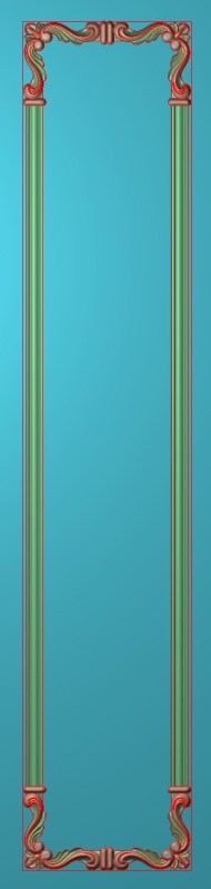 欧式竖图JDP格式雕刻雕花护墙板系列HQ00153插图