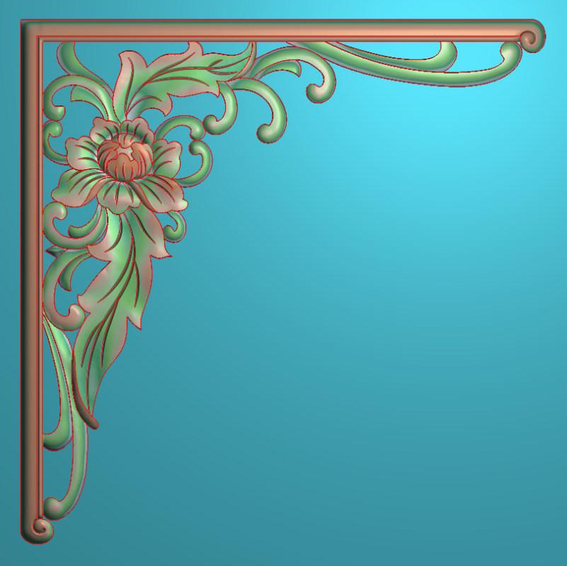 欧式正方图JDP格式植物角花系列JH014插图