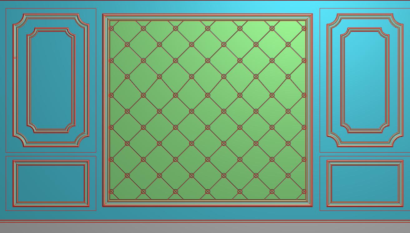 欧式横图JDP格式背景墙系列BJ0037插图