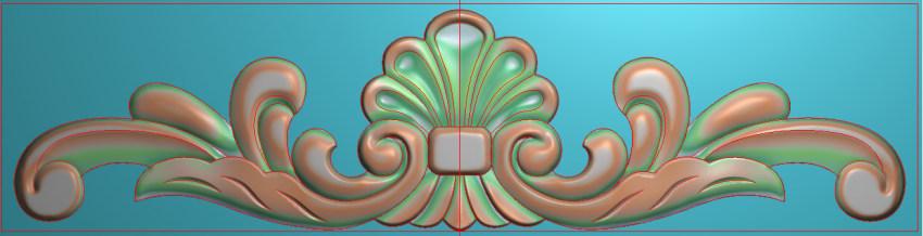 欧式三角花图JDP格式横图浮雕外墙装饰花洋花系列柜门花SH028插图
