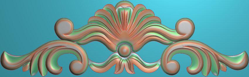欧式三角花图JDP格式横图浮雕外墙装饰花洋花系列柜门花SH0244插图