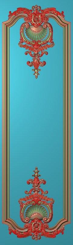 欧式竖图JDP格式雕刻雕花护墙板系列HQ00208插图