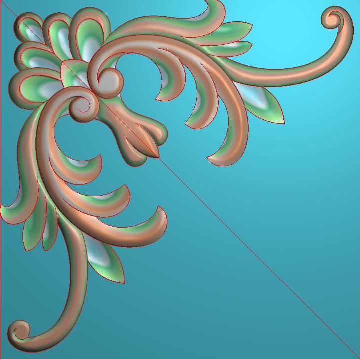 欧式正方图JDP格式植物角花系列JH0285插图