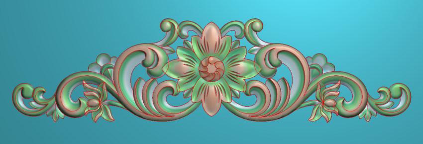 欧式三角花图JDP格式横图浮雕外墙装饰花洋花系列柜门花SH015插图