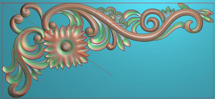 欧式横图JDP格式植物角花系列JH0188插图