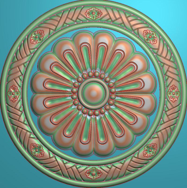 欧式圆花图JDP格式贴花门上花洋花系列罗马柱头贴片YH0076插图