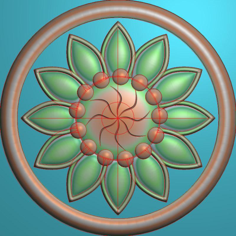 欧式圆花图JDP格式贴花门上花洋花系列罗马柱头贴片YH0026插图